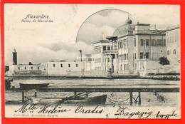 AFRIQUE - EGYPTE - ALEXANDRIE - Oblitéré 1902 - PALAIS  DE  RAS -  EL- TIN - Alexandrie