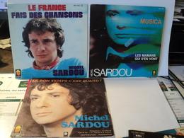 MICHEL SARDOU. LOT DE TROIS 45 TOURS. 1974 / 1982 LE FRANCE  / FAIS DES CHANSONS / MUSICA / LES MAMANS QUI S EN VONT / - Autres - Musique Française