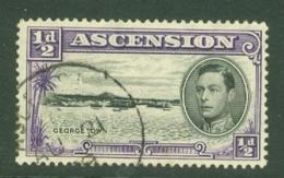 Ascension: 1938/53   KGVI    SG38    ½d  [Perf: 13½]    Used - Ascension