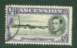 Ascension: 1938/53   KGVI    SG38b    ½d  [Perf: 13]    Used - Ascension