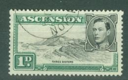 Ascension: 1938/53   KGVI    SG39d    1d  Black & Green  [Perf: 13]    Used - Ascension