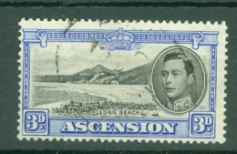 Ascension: 1938/53   KGVI    SG42    3d   Black & Ultramarine    Used - Ascension
