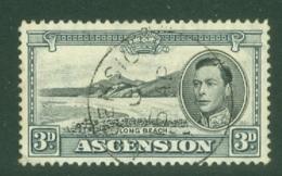 Ascension: 1938/53   KGVI    SG42b    3d  Black & Grey  [Perf: 13]    Used - Ascension