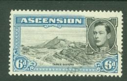 Ascension: 1938/53   KGVI    SG43    6d   [Perf: 13½]  Used - Ascension