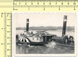REAL PHOTO 1950's Yugoslavia Steamship Steam Ship SANDzAK САНЏАК Steam-powered Vessel, Bateau À Vapeur ORIGINAL SNAPSHOT - Boten