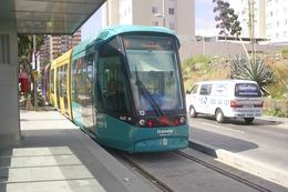 Tenerife (Iles Canaries) Avril 2007 - Rame Citadis 302 Alstom - Ligne 1 - Station Príncipes De España Rame N°13 - Tenerife