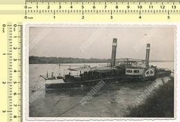 REAL PHOTO 1950's Yugoslavia Steamship Steam Ship DALMACIJA Steam-powered Vessel, Bateau À Vapeur ORIGINAL SNAPSHOT - Bateaux