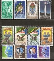 Tanganyika & Zanzibar 1962/66 3 Complete Sets MNH ** - Tanganyika (...-1932)