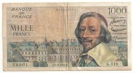 1000 Francs (Richelieu)3-3-1955 - 1 000 F 1953-1957 ''Richelieu''