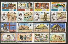 Tanzania 1976/7 4 Complete Sets MNH ** - Tanzania (1964-...)