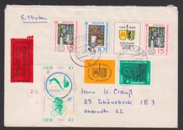 Tokio Olympische Spiele 1964 DDR S Zdr. 52 Radsport Radrennen Kunstspringen, Portogenau Mi. 1039, 1042 Eil-Bf Zd W143 - [6] República Democrática