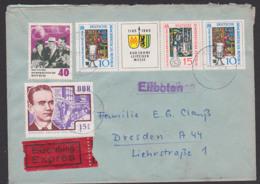 Germany Leipziger Messe 1965 DDR W Zdr. 142, Mit 40 Pfg. Chruschtschow Und Valentina Tereschkowa, Eil-Brief - [6] República Democrática