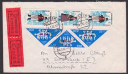 DDR Kehrdruck Pioniertreffen K 6 (1047/1047/1047) Und Mönchgut Rügen  - Trachten Senkr. Zdr. SZd 71, Eilsendung - [6] República Democrática