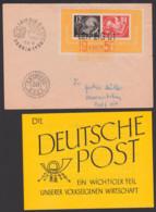 Leipzig DEBRIA 1950 DDR Block 7 Brief Mit 3-farben-Stempel 2.9.50 Mit Werbeflyer Der Deutschen  Post, Mit Dv M 301.20000 - [6] Democratic Republic