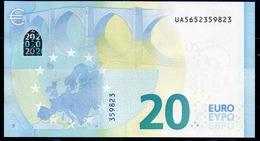 """€ 20  FRANCE  UA U027  """"65""""  DRAGHI  UNC - EURO"""