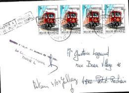 Belgique. TP 1488 (x 4)   L. Jalhay > Petit Rechain 1983 Inconnu à L'appel Des Facteurs De 4820 Dison/ Le Contrôleur- - Marcofilia