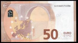 """50 EURO ITALIA  SC  S021  Ch. """"36""""  - DRAGHI   UNC - 50 Euro"""