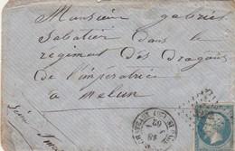 Yvert 14 Lettre Sans Correspondance ST PAUL TROIS CHATEAUX Drôme 18/7/1862  PC 3232 - 1849-1876: Période Classique