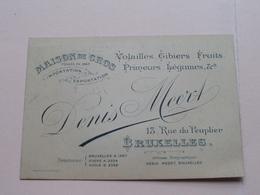 DENIS MEERT ( Maison De Gros Imp./Exp. ) 13 Rue Du Peuplier BRUXELLES ( Voir / Zie Photos ) ! - Cartes De Visite