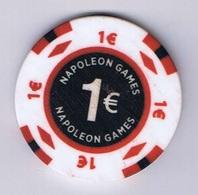 Casino Chip Fiche 1 € Middelkerke Belgium Belgique België - Casino