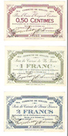 Bons De Caisse 0,50 - 1F - 2F  - Commune De Seilles - 1914 - Etat Presque Neuf - [ 3] Occupazioni Tedesche Del Belgio