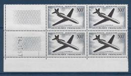 POSTE AERIENNE - YVERT N°36 BLOCS De 4 COIN DATE 1957 ** MNH - COTE = 210 EUROS - - Poste Aérienne