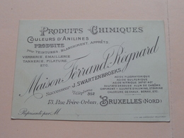 Maison FERRAND - REGNARD ( Produits Chimiques ) 13 Rue Frère-Orban BRUXELLES Nord ( Voir / Zie Photos ) ! - Visiting Cards