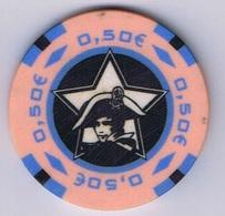 Casino Chip Fiche 0,5 € Middelkerke Belgium Belgique België - Casino