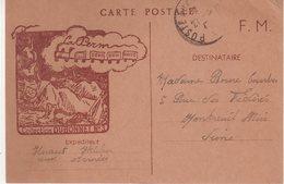 """FRANCE : CP EN FM . """" LA PER """" . COLL DUBONNET . N° 3 . TB . 1940 . - Postmark Collection (Covers)"""