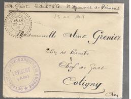 25130 - DETACHEMENT DE  P.G. LEYMENT - Marcophilie (Lettres)