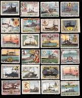 Vignette Guerre 1914 1918 Lot 38 Vignettes Delandre Marine Militaire Anglaise Bateau HMS Falmouth Suffolk Sydney - Vignettes Militaires
