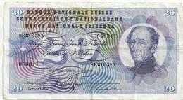Suisse 20 Francs 15 Mai 1968 - Svizzera