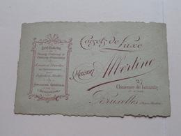 Maison ALBERTINE ( Corsets De Luxe ) 27 Chaussée De Louvain BRUXELLES Place Madou ( Voir / Zie Photos ) ! - Visiting Cards