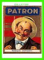 ADVERTISING, PUBLICITÉ - PATRON, EUROPEAN CIGAR BOX TOP LABEL, 1890 - CAMEO EDITIONS - - Publicité