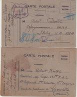 FRANCE : CP . 2 EX . D' UN PG . POUR LE CP DE PG . AU CAMP DE  LEROUVILLE MEUSE . ET ENSUITE AU STALAG II A . 1940 - Marcophilie (Lettres)