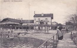 BELLERIVE  LE DEBARCADERE CAFE RESTAURANT LA MARINE VOIR VERSO   CPA  CIRCULEE - Blankenberge