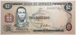 Jamaïque - 2 Dollars - 1973 - PICK 58 - NEUF - Jamaique