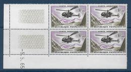 POSTE AERIENNE - YVERT N° 41 BLOC De 4 COIN DATE 1965 ** MNH - COTE = 80 EUROS - - Dated Corners
