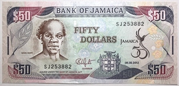Jamaïque - 50 Dollars - 2012 - PICK 89 - NEUF - Jamaique