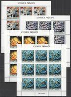 ZZ078 2004 S.TOME E PRINCIPE MARINE LIFE CORALS OS CORAIS !!! 9SET MNH - Mundo Aquatico