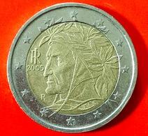 ITALIA - 2005 - Moneta - Dante Alighieri, Dipinto Da Raffaello - Euro - 2.00 - Italia