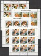ZZ164 2004 S.TOME E PRINCIPE ART PAINTINGS MICHELANGELO !!! 9SET MNH - Art