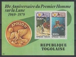 Togo - Bloc - BF - YT 131 ** MNH - 1979 - Apollo 11 - Togo (1960-...)