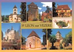 SAINT LEON SUR VEZERE Eglise Le Chateau De La Salle Le Chateau De Clerans La Chapelle  29 (scan Recto Verso)MG2821 - France