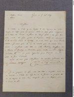 Twee Brieven Aan Notaris Leirens Te Wetteren, 1839. - Manuscrits
