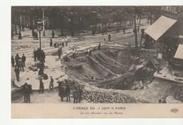 Paris / Orage Du 15 Juin, Le Sol Effondré Rue Du Havre , Animée - Disasters