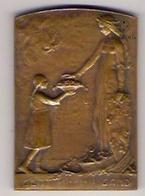 Médaille Plaque - 1914-1918 - La Ville De Gand Reconnaissante à Mlle E. Canneel - Géo Verbanck - Altri