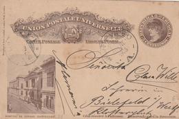 Uruguay MONTEVIDEO POSTAL CARD HOSPITAL TO Bielefeld Germany 1903 - Uruguay