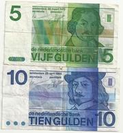 Pays Bas 5 + 10 Gulden - 10 Gulden