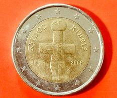 CIPRO - 2009 - Moneta - Idolo Cruciforme Del Periodo Calcolitico (3000 A.C.) - Euro - 2.00 - Cipro
